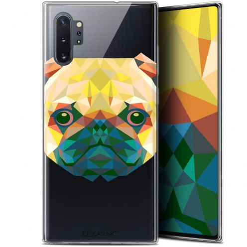 "Extra Slim Gel Samsung Galaxy Note 10+ / Plus (6.8"") Case Polygon Animals Dog"