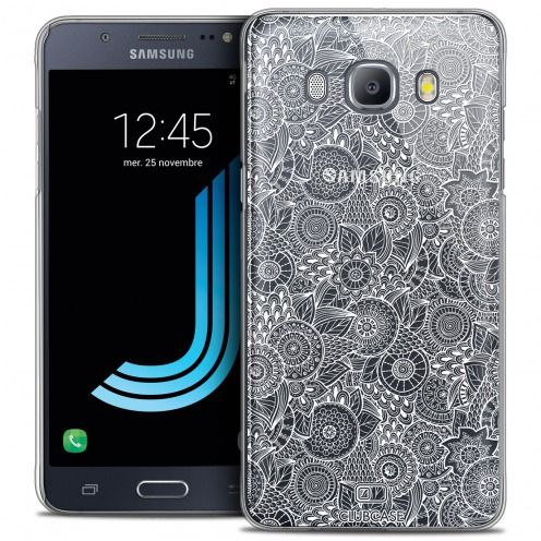 Extra Slim Crystal Galaxy J5 2016 (J510) Case Case Floral Lace Collection - White