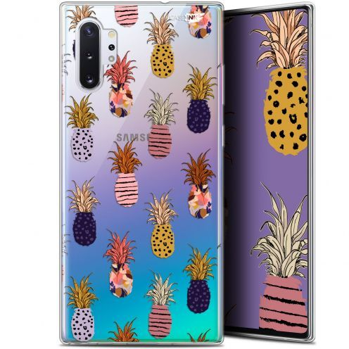 "Extra Slim Gel Samsung Galaxy Note 10+ / Plus (6.8"") Case Design Ananas Gold"