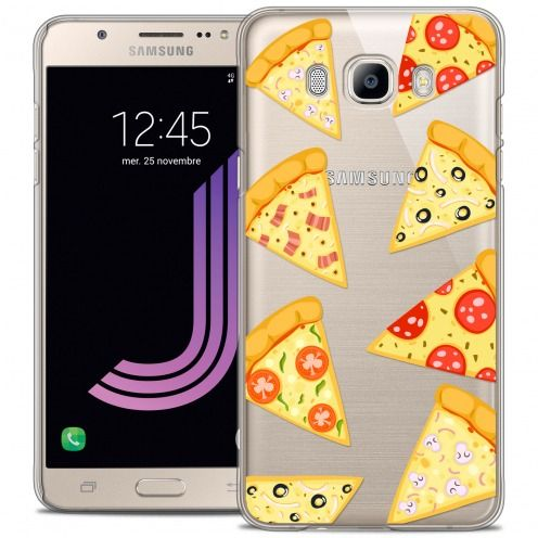 Extra Slim Crystal Galaxy J7 2016 (J710) Case Foodie Pizza