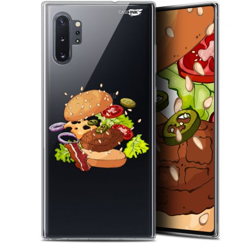 "Extra Slim Gel Samsung Galaxy Note 10+ / Plus (6.8"") Case Design Splash Burger"
