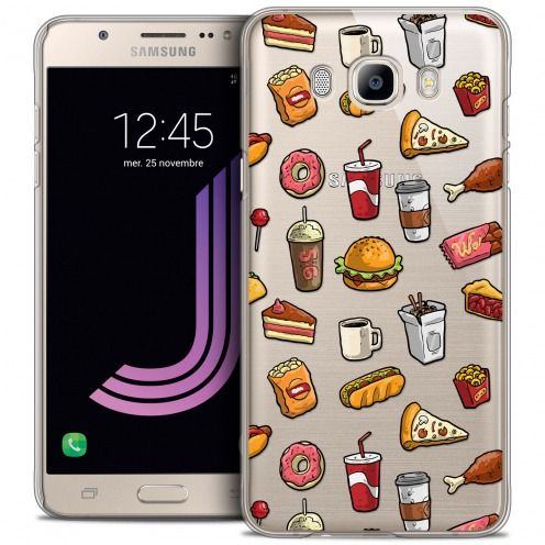 Extra Slim Crystal Galaxy J7 2016 (J710) Case Foodie Fast Food