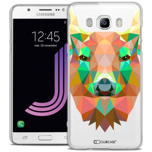 Extra Slim Crystal Galaxy J7 2016 (J710) Case Polygon Animals Deer