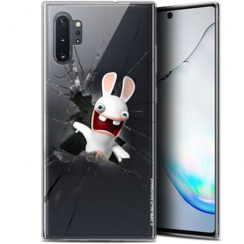"""Gel Samsung Galaxy Note 10+ / Plus (6.8"""") Case Lapins Crétins™ Breaking Glass"""