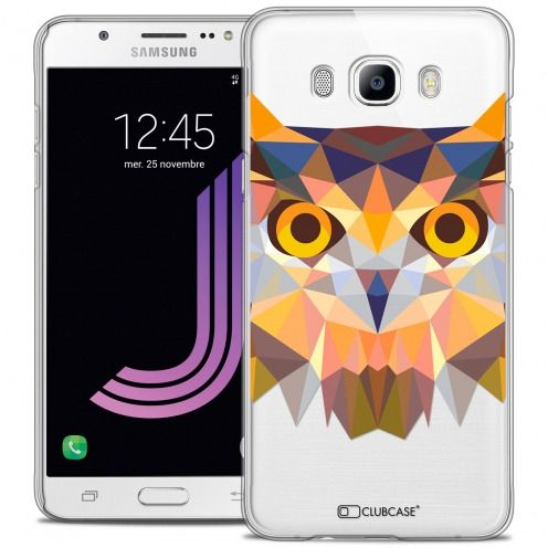 Extra Slim Crystal Galaxy J7 2016 (J710) Case Polygon Animals Owl