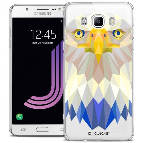 Extra Slim Crystal Galaxy J7 2016 (J710) Case Polygon Animals Eagle