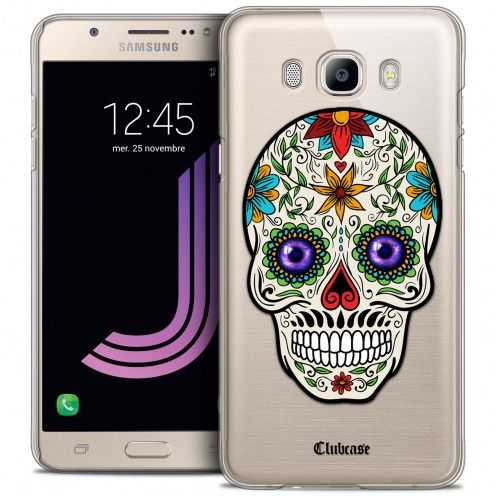 Extra Slim Crystal Galaxy J7 2016 (J710) Case Skull Maria's Flower