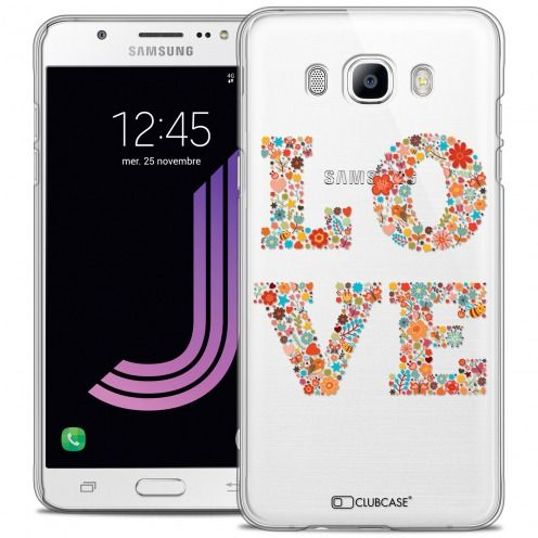 Extra Slim Crystal Rigide Samsung Galaxy J7 2016 (J710) Case Summer Love Flowers