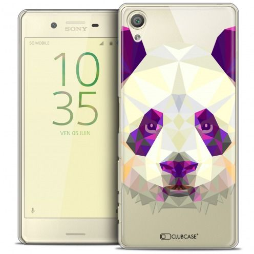 Extra Slim Crystal Xperia X Case Polygon Animals Panda