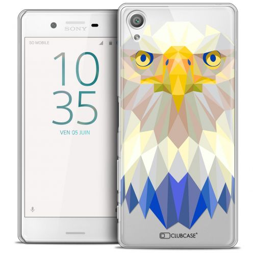 Extra Slim Crystal Xperia X Case Polygon Animals Eagle