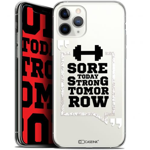 "Extra Slim Gel Apple iPhone 11 Pro (5.8"") Case Quote Strong Tomorrow"