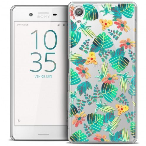 Extra Slim Crystal Rigide Sony Xperia X Case Spring Tropical