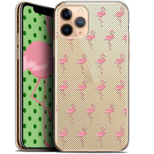 "Extra Slim Gel Apple iPhone 11 Pro (5.8"") Case Pattern Les flamants Roses Dots"