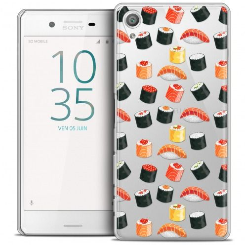 Extra Slim Crystal Xperia X Case Foodie Sushi