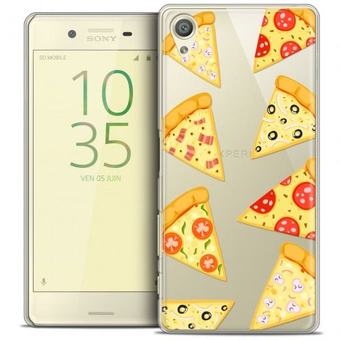 Extra Slim Crystal Xperia X Case Foodie Pizza