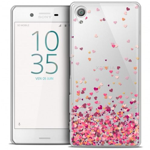 Extra Slim Crystal Xperia X Case Sweetie Heart Flakes