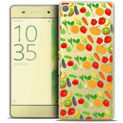 Extra Slim Crystal Xperia XA Case Foodie Healthy