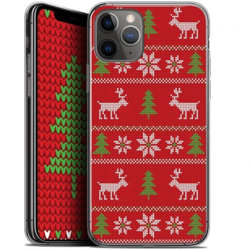 """Extra Slim Gel Apple iPhone 11 Pro Max (6.5"""") Case Noël 2017 Couture Rouge"""