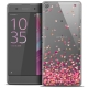 Extra Slim Crystal Xperia XA Case Sweetie Heart Flakes