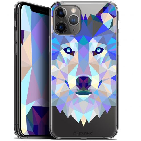 "Extra Slim Gel Apple iPhone 11 Pro Max (6.5"") Case Polygon Animals Wolf"