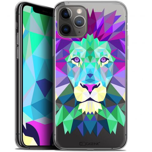 "Extra Slim Gel Apple iPhone 11 Pro Max (6.5"") Case Polygon Animals Lion"
