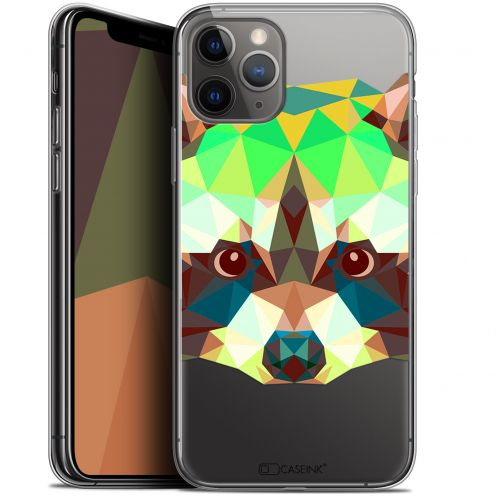 "Extra Slim Gel Apple iPhone 11 Pro Max (6.5"") Case Polygon Animals Raton Laveur"