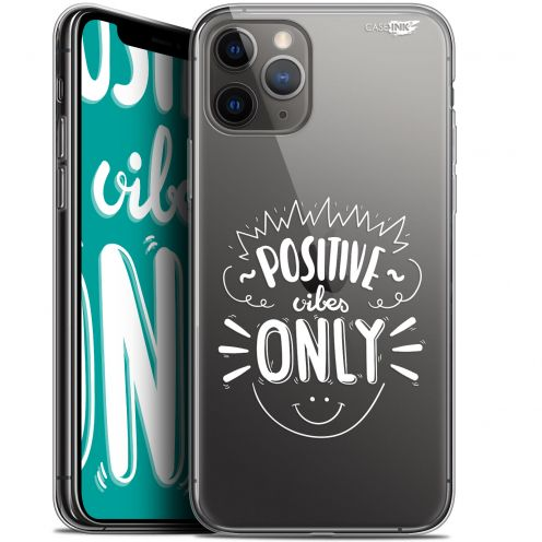 "Extra Slim Gel Apple iPhone 11 Pro Max (6.5"") Case Design Positive Vibes Only"
