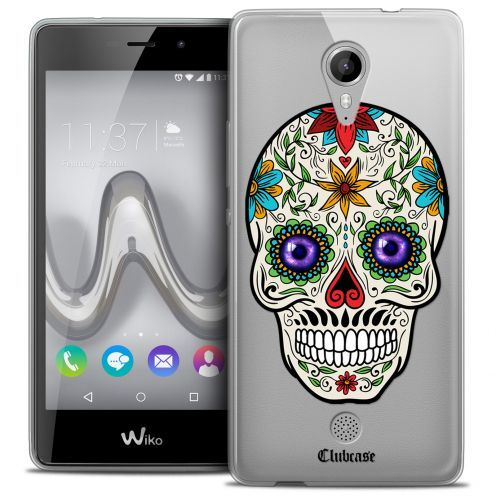 Extra Slim Crystal Gel Wiko Tommy Case Skull Maria's Flower