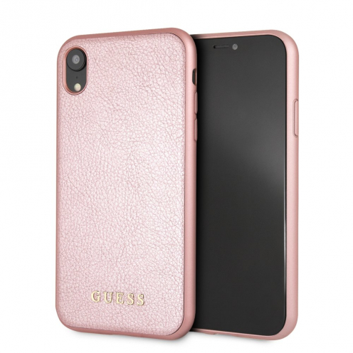Original faceplate case GUESS GUHCI61IGLRG iPhone XR rose-gold