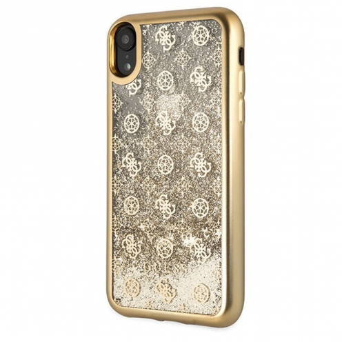 Original faceplate case GUESS GUHCI61PEOLGGO iPhone XR gold