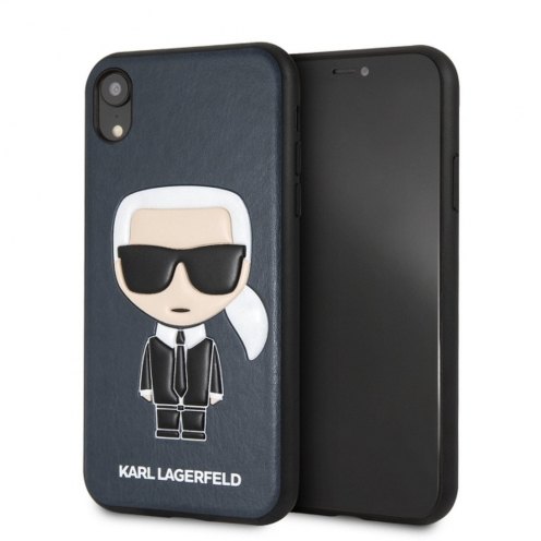 Original faceplate case KARL LAGERFELD KLHCI61IKPUBL iPhone XR blue
