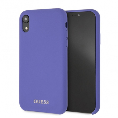 Original faceplate case GUESS GUHCI61LSGLUV iPhone XR violet