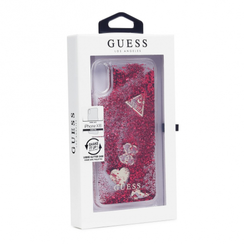 Original faceplate case GUESS GUHCI61GLHFLRA iPhone XR raspberry