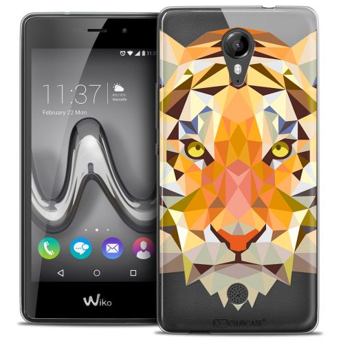 Extra Slim Crystal Gel Wiko Tommy Case Polygon Animals Tiger