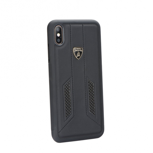 Original Back Cover Carbon Lamborghini Huracan-D6 LB-TPUPCIPXR-HU/D6-BK iPhone Xr black