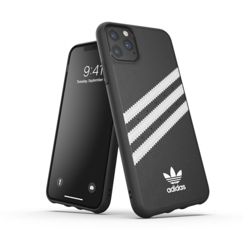 ADIDAS Originals Moulded Case PU for iPhone 11 PRO Max ( 6.5 ) black / white