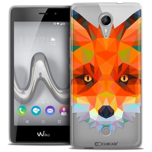 Extra Slim Crystal Gel Wiko Tommy Case Polygon Animals Fox