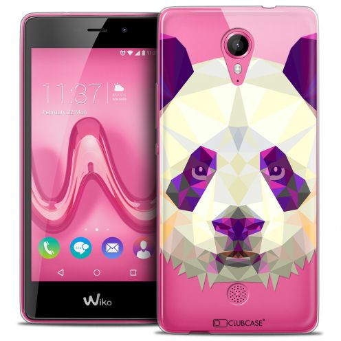 Extra Slim Crystal Gel Wiko Tommy Case Polygon Animals Panda