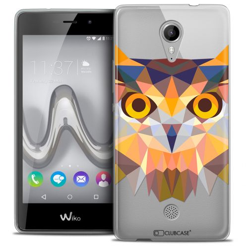 Extra Slim Crystal Gel Wiko Tommy Case Polygon Animals Owl