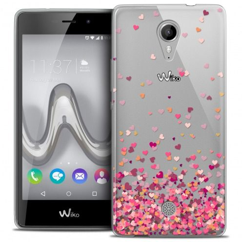 Extra Slim Crystal Gel Wiko Tommy Case Sweetie Heart Flakes