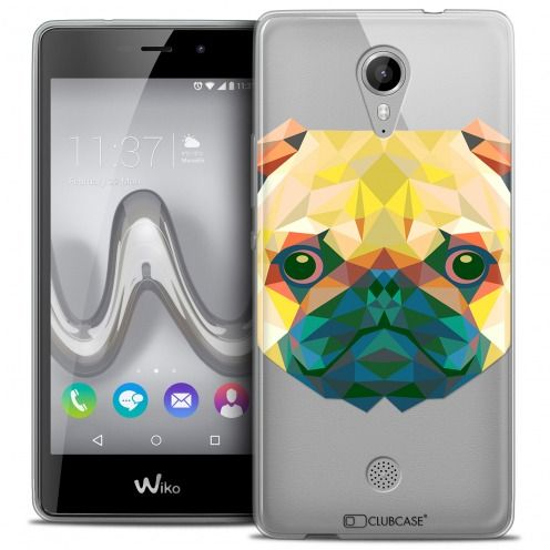 Extra Slim Crystal Gel Wiko Tommy Case Polygon Animals Dog