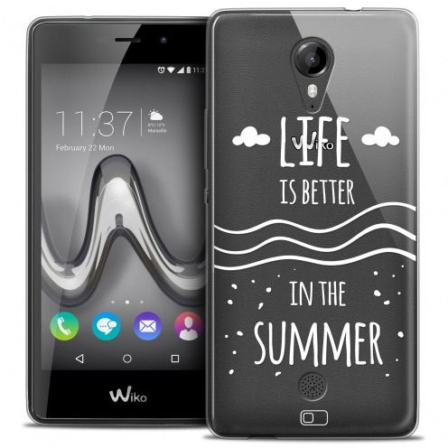 Extra Slim Crystal Gel Wiko Tommy Case Summer Life's Better