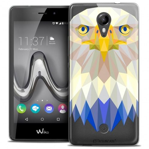 Extra Slim Crystal Gel Wiko Tommy Case Polygon Animals Eagle