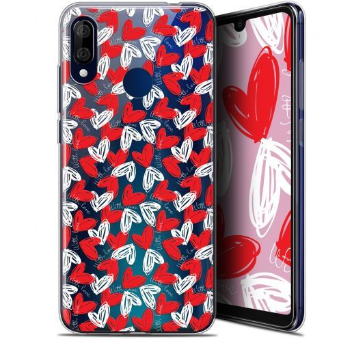 """Extra Slim Gel Wiko View 3 LITE (6.09"""") Case Love With Love"""