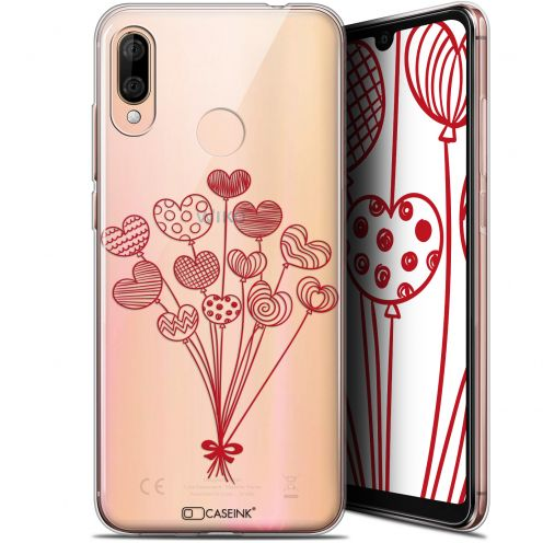 """Extra Slim Gel Wiko View 3 LITE (6.09"""") Case Love Ballons d'amour"""