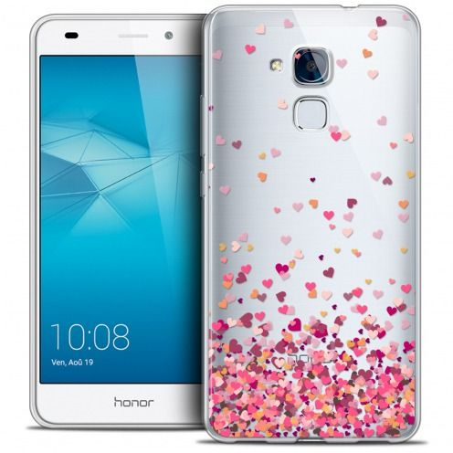 Extra Slim Crystal Gel Huawei Honor 5C Case Sweetie Heart Flakes