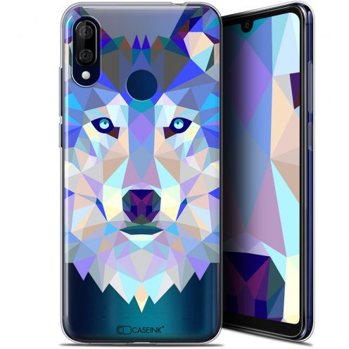 "Extra Slim Gel Wiko View 3 LITE (6.09"") Case Polygon Animals Wolf"