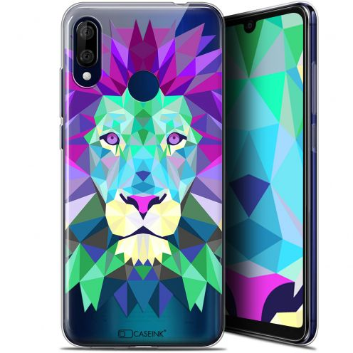 "Extra Slim Gel Wiko View 3 LITE (6.09"") Case Polygon Animals Lion"