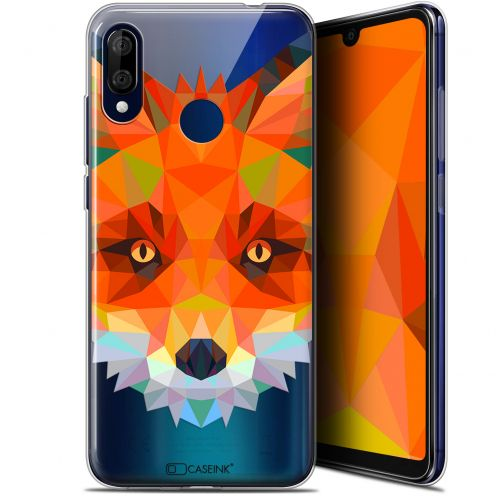 "Extra Slim Gel Wiko View 3 LITE (6.09"") Case Polygon Animals Fox"