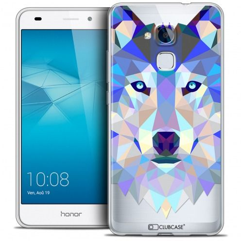 Extra Slim Crystal Gel Huawei Honor 5C Case Polygon Animals Wolf